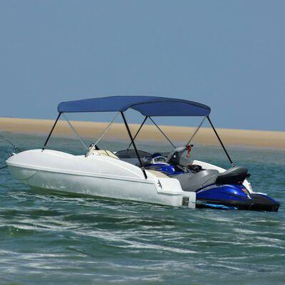 vidaXL Parasolar barcă Bimini cu 2 arcuri, bleumarin, 180x150x110 cm
