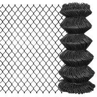 vidaXL Gard plasă de sârmă, gri, 25 x 0,8 m, oțel
