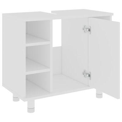vidaXL Dulap de baie, alb, 60 x 32 x 53,5 cm, PAL