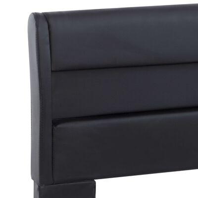 vidaXL Cadru de pat cu LED, negru, 160 x 200 cm, piele ecologică