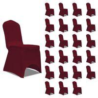 vidaXL Huse de scaun elastice, 24 buc., vișiniu