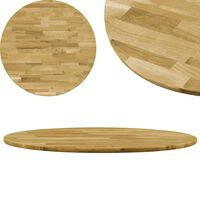 vidaXL Blat de masă, lemn masiv de stejar, rotund, 23 mm, 900 mm