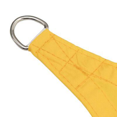 vidaXL Parasolar, galben, 3,6x3,6 m, țesătură oxford, pătrat