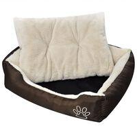 Pat cald pentru câini, cu pernă căptușită, XL