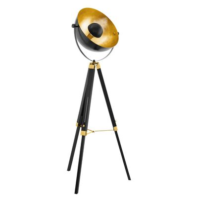 EGLO Lampă de podea COVALEDA, negru și arămiu, 49618
