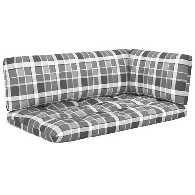 vidaXL Set mobilier paleți cu perne, 6 buc., lemn pin verde tratat
