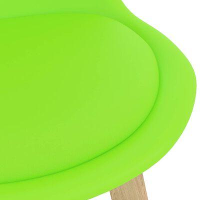 vidaXL Scaune de bar, 2 buc., verde, piele ecologică