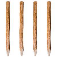 vidaXL Stâlpi de gard ascuțiți, 4 buc., 120 cm, lemn de alun