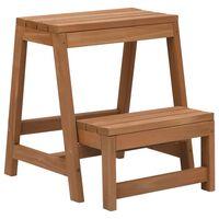 vidaXL Taburet cu treaptă, pliabil, lemn masiv de brad