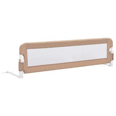 vidaXL Balustradă protecție pat copii, gri taupe, 150x42 cm, poliester