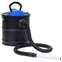 vidaXL Aspirator de cenușă filtru HEPA, 1200 W, 20 L, oțel