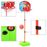vidaXL Set cu minge și coș de baschet pentru copii