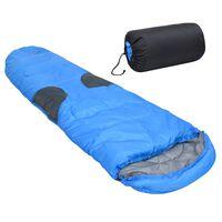 vidaXL Sac de dormit, albastru, 2000 g, -5 ℃