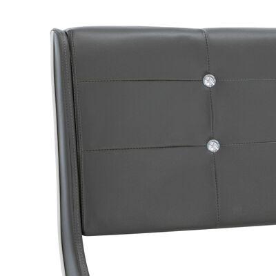 vidaXL Pat cu saltea spumă cu memorie gri 160 x 200 cm piele ecologică