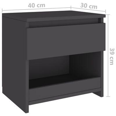 vidaXL Noptieră, gri, 40x30x39 cm, PAL