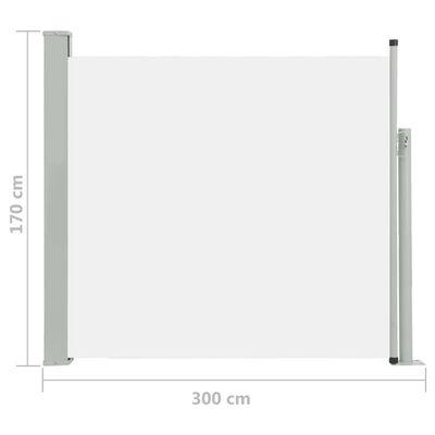 vidaXL Copertină laterală retractabilă de terasă, crem, 170 x 300 cm