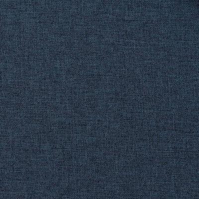 vidaXL Draperie opacă, aspect de in, albastru, 290x245 cm, cu cârlige