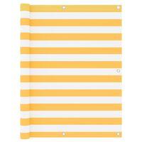 vidaXL Paravan de balcon, alb și galben, 120 x 300 cm, țesătură oxford