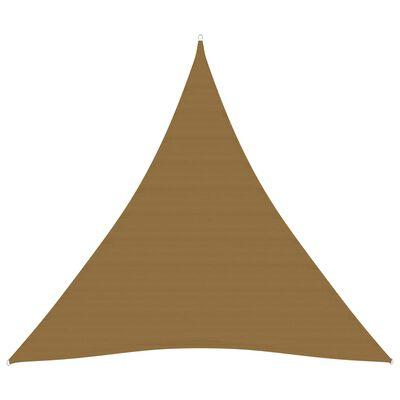 vidaXL Pânză parasolar, gri taupe, 4,5x4,5x4,5 m, HDPE, 160 g/m²