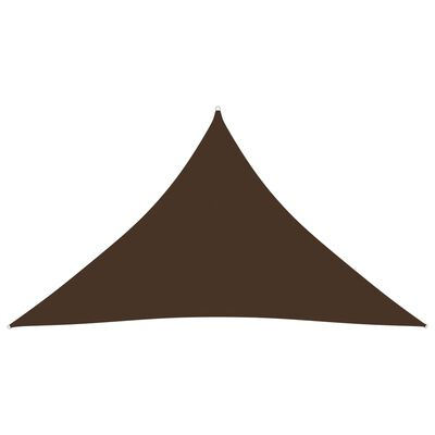 vidaXL Parasolar, maro, 2,5x2,5x3,5 m, țesătură oxford, triunghiular