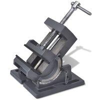 vidaXL Menghină cu înclinare mașină găurit, acționare manuală, 110 mm