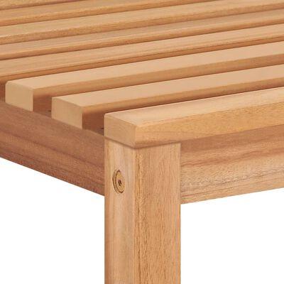 vidaXL Scaune de grădină cu perne, 4 buc., lemn masiv de tec