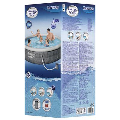 Bestway Set piscină gonflabilă Fast Set, cu pompă, 396 x 84 cm