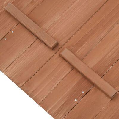 vidaXL Groapă de nisip, 95 x 90 x 15 cm, lemn de brad