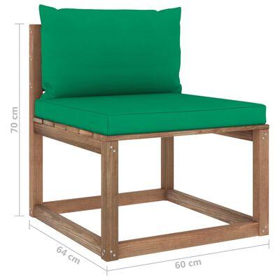 vidaXL Set mobilier grădină paleți cu perne, 3 piese, lemn pin tratat