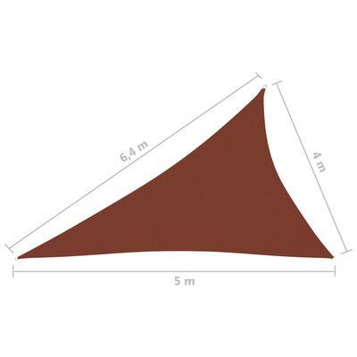 vidaXL Parasolar, cărămiziu, 4x5x6,4 m, țesătură oxford, triunghiular