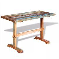 vidaXL Masă bucătărie tip piedestal, 120x58x78cm, lemn solid reciclat