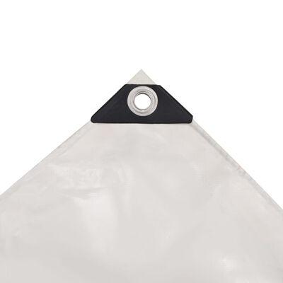 vidaXL Prelată 650 g/m² 4 x 5 m Alb