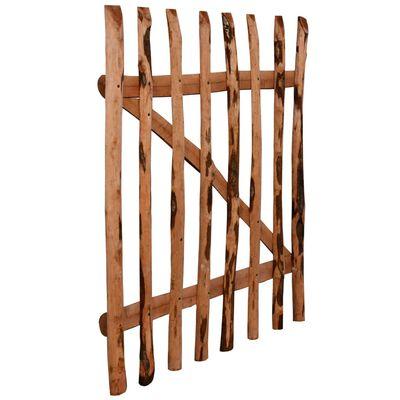vidaXL Poartă de gard simplă, lemn de alun tratat, 100x120 cm
