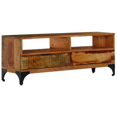 vidaXL Comodă TV, 118 x 35 x 45 cm, lemn masiv reciclat