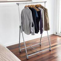 Storage solutions Suport de îmbrăcăminte, 4 roți, metal