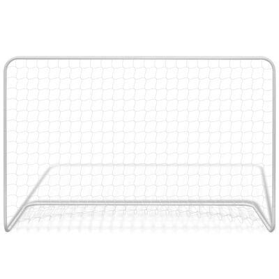 vidaXL Poartă de fotbal cu plasă alb 182x61x122 cm oțel  ,