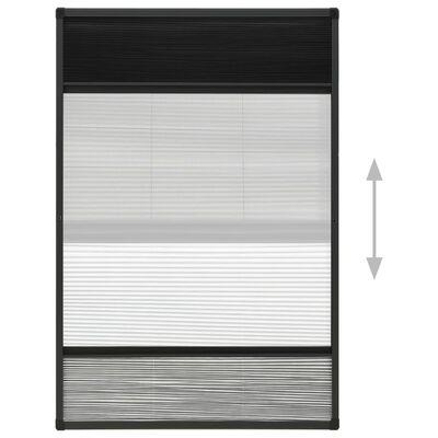 vidaXL Plasă insecte pentru ferestre, 100x160 cm, aluminiu, cu umbrar