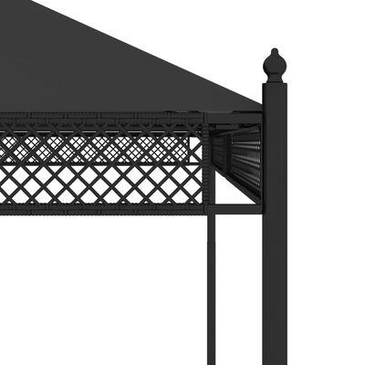 vidaXL Pavilion cu perdele, antracit, 3,5 x 3,5 x 3,1 m