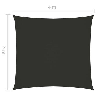 vidaXL Pânză parasolar, antracit, 4x4 m, țesătură oxford, pătrat