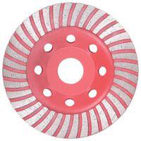 vidaXL Disc de polizare diamantat tip cupă, cu turbo, 115 mm