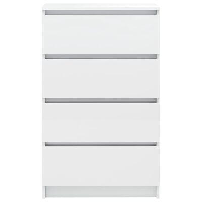 vidaXL Servantă, alb extralucios, 60 x 35 x 98,5 cm, PAL