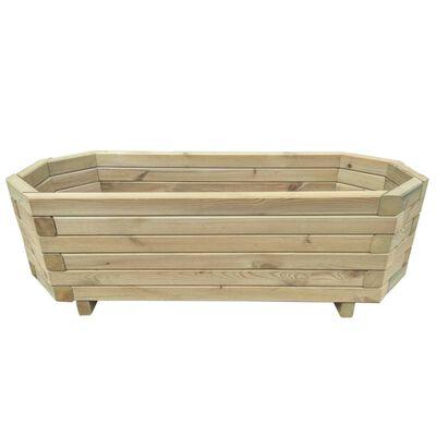 vidaXL Strat înălțat de grădină, 80 x 32 x 31 cm, lemn de pin tratat