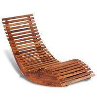 vidaXL Balansoar șezlong din lemn de acacia
