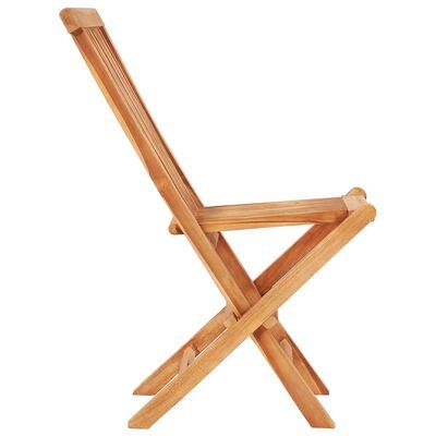 vidaXL Set bistro 3 piese cu perne roșii, lemn masiv de tec