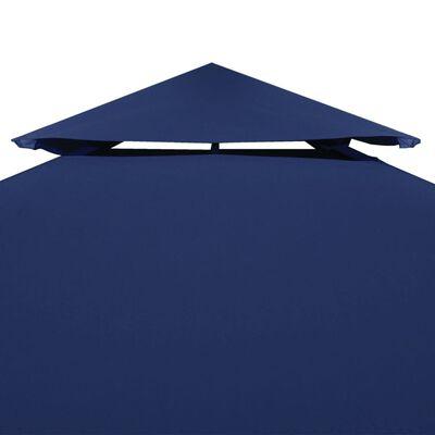 vidaXL Acoperiș de pavilion, 2 niveluri, albastru, 4 x 3 m, 310 g/m²