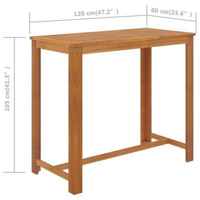 vidaXL Set mobilier bar de grădină, 7 piese, negru