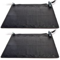 Intex Covor cu încălzire solară, 2 buc. negru, 1,2x1,2 m, PVC, 28685