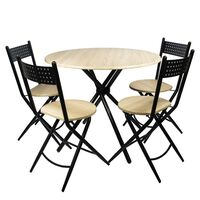 Unic Spot RO, Set masa Kaliope cu 4 scaune, 90x90x77cm