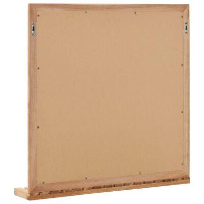 vidaXL Oglindă de baie, 60 x 12 x 62 cm, lemn masiv de nuc