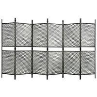 vidaXL Paravan cameră cu 6 panouri, antracit, 360 x 200 cm, poliratan